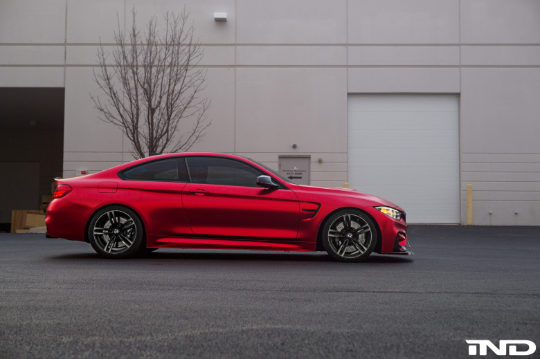 Beautiful Matte Red BMW M4 With Aftermarket Parts