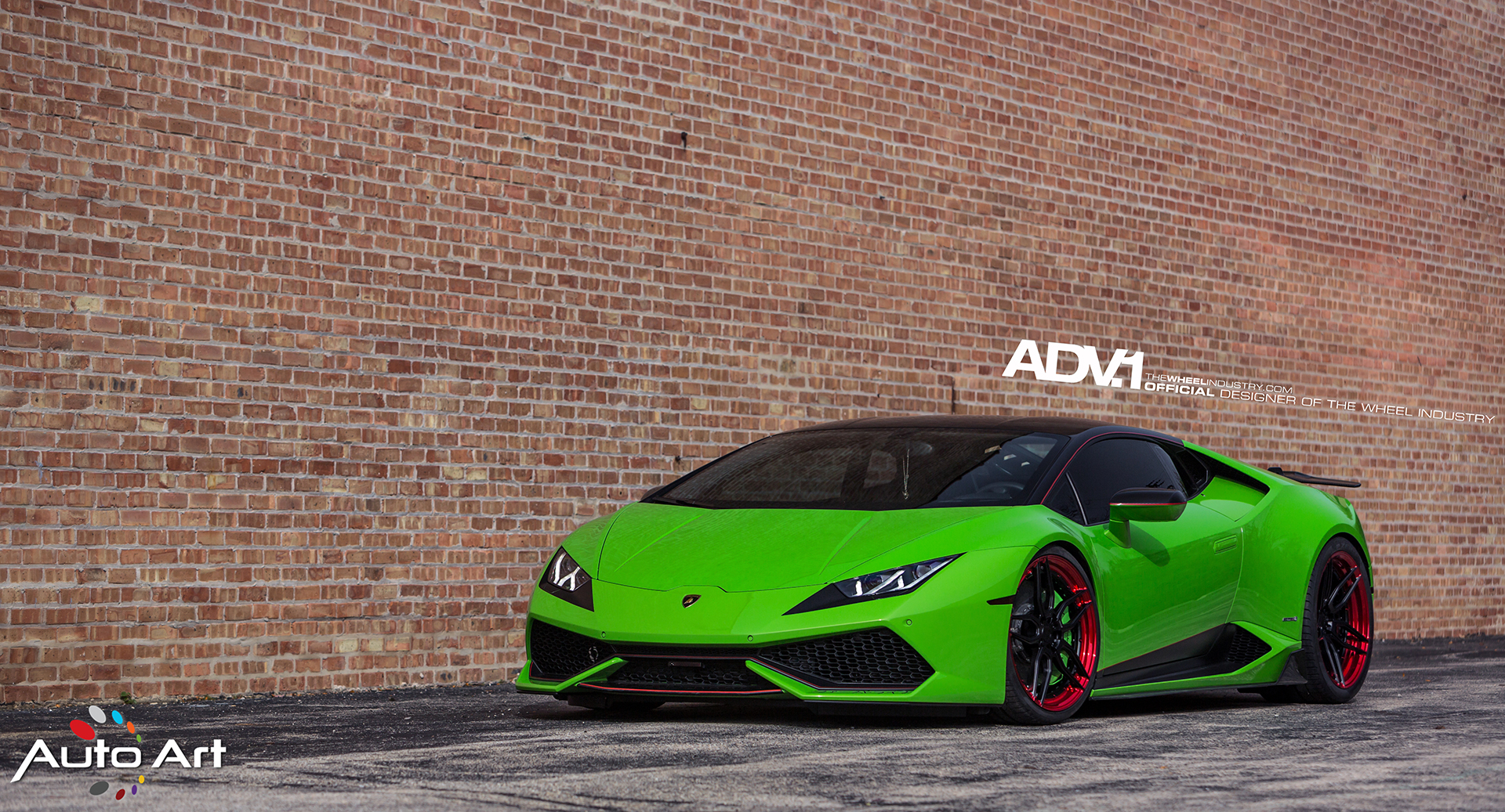 verde mantis green lamborghini huracan lp610 4 black wheels red lip adv1 forged wheels vorsteiner novitec e